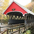 Pemigewasset River Covered Bridge In Fall by Christiane Schulze Art And Photography