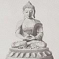 Pen And Ink Buddha by Karma Moffett