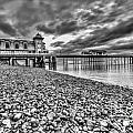 Penarth Pier 2 Mono by Steve Purnell