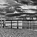 Penarth Pier Panorama Monochrome by Steve Purnell