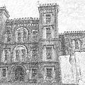 Pencil Drawing Of Old Jail by Dale Powell