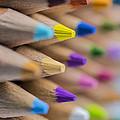 Pencils Colored Macro 5 by David Haskett II