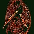 Pendant Fractal Paisley by Doug Morgan