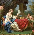 Penelope Reading A Letter From Odysseus by Louis-Jean-Francois Lagrenee