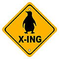 Penguin Crossing Sign by Marvin Blaine