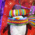 Penguin Happy Holidays Photo Art by Thomas Woolworth