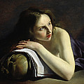 Penitent Magdalen Oil On Canvas by Paulus Moreelse