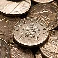 Pennies Sterling Full Frame by Lee Avison