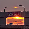 Penns Landing Arch At Sunrise by Bill Cannon