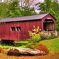 Pennsylvania Country Roads - Everhart Covered Bridge At Fort Hunter - Harrisburg Dauphin County by Michael Mazaika