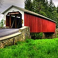 Pennsylvania Country Roads - Forry's Mill Covered Bridge - Lancaster County Spring No. 2 by Michael Mazaika