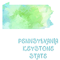 Pennsylvania - Keystone State - Map - State Phrase - Geology by Andee Design