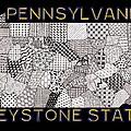 Pennsylvania Map Black by Rebecca Jayne