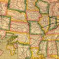 Pennsylvania Railroad Map 1879 by Mountain Dreams