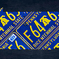 Pennsylvania State License Plate Map by Design Turnpike