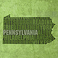 Pennsylvania Word Art State Map on Canvas by Design Turnpike