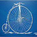 Penny-farthing 1867 High Wheeler Bicycle Blueprint by Nikki Marie Smith