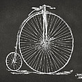 Penny-farthing 1867 High Wheeler Bicycle Patent - Gray by Nikki Marie Smith