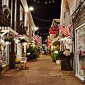 Penny Lane At Night - Rehoboth Beach Delaware by Kim Bemis