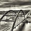 Pennybacker Bridge Bw by Mario Villeda