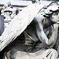 Pensive Angel Monumental Cemetery Milan Italy by Sally Rockefeller