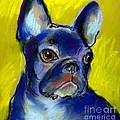 Pensive French Bulldog Portrait by Svetlana Novikova
