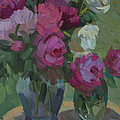 Peonies In The Shade by Diane McClary