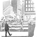 People Are Crossing The Street Looking by Liam Walsh