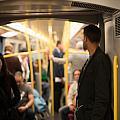 People Commuting Vienna Metro by Frank Gaertner