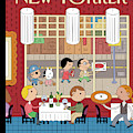 People Enjoying Dinner In The City by Ivan Brunetti