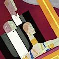 People In Formal Attire In A Theater Box by Eduardo Garcia Benito
