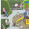 People Playing At A Playground Withtheir Kids by Chris Ware