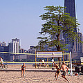 People Playing Beach Volleyball by Panoramic Images