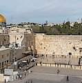 People Praying At At Western Wall by Panoramic Images