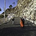 People Walking On The Path Leading To Shrine Of Vaishno Devi by Ashish Agarwal