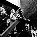 People Watching A Fire - Nyc - 1980 by Joe Billera