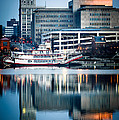 Peoria Illinois Cityscape And Riverboat by Paul Velgos
