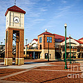 Peoria Illinois Riverfront Businesses And Clock Tower by Paul Velgos