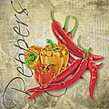 Peppers by Anita Hubbard