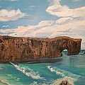 Perce Rock Gaspe  Quebec by Sharon Duguay