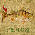 Perch On Burlap by Jean Plout