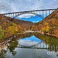 Perfect Reflections Of The New River Gorge Bridge by Adam Jewell