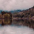 Perfectly Cloudy Lake by Omaste Witkowski