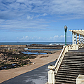 Pergola Da Foz At Praia Do Molhe Beach In Porto by Artur Bogacki
