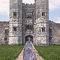 Period Lady In Front Of A Castle by Joana Kruse