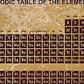 Periodic Table Of The Elements - 4 by Paulette B Wright