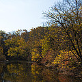 Perkiomen Creek In Autumn by Bill Cannon