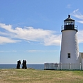 Pemaquid Lighthouse Visitors by Jean Goodwin Brooks