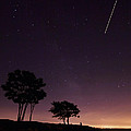 Perseids Meteor Over Sasco Hill by Stephanie McDowell