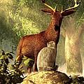 Persian Cat And Deer by Daniel Eskridge
